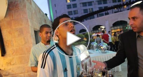 انطلاق فعاليات الاحتفال ببدء كأس العالم في رام الله