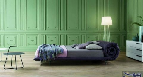 ديكورات غرف نوم مودرن بجمال اللون الأخضر بما يعكس جمال الطبيعة