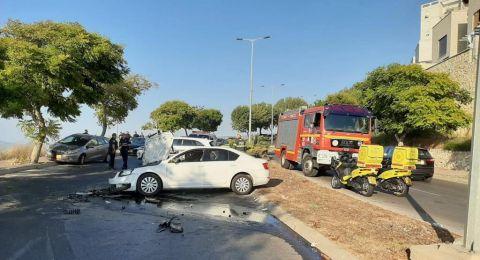 اصابات متفاوتة في حادث طرق بمدينة