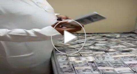 بالفيديو..ضبط مئات مليارات الدولارات على متن طائرة عراقية خاصة
