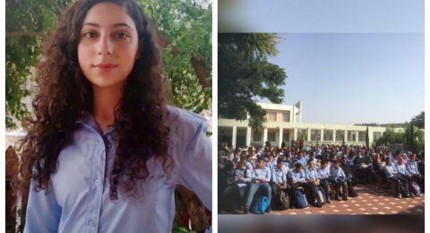 الطالبة بيسان محمد بويرات رئيسة لمجلس طلاب اعدادية معاوية