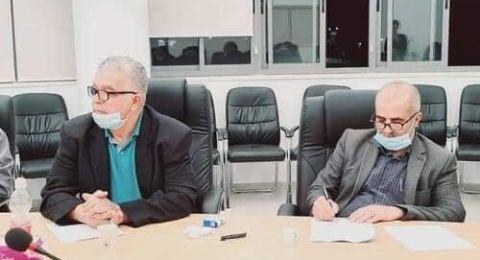 اجتماع مشترك بين مجلس بسمة وبلدية برطعة لمناقشة ازمة سوق البلدة واجراءات الوقاية من الكورونا