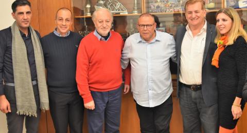 رئيس الهستدروت أرنون بار دافيد بلقاء أعضاء اللجنة الفلسطينية للتفاعل مع المجتمع الاسرائيلي