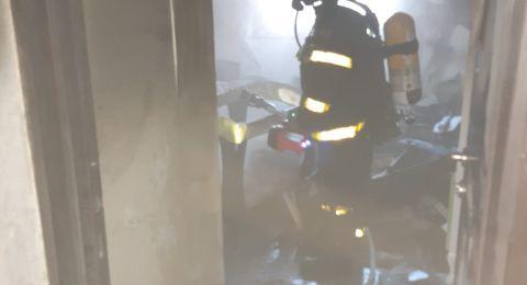 مدفأة اسلاك تتسبب باندلاع حريق كبير بمنزل في باقة الغربية - تحذير