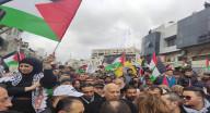 المهرجان الجماهيري المركزي وسط مدينة رام الله،
