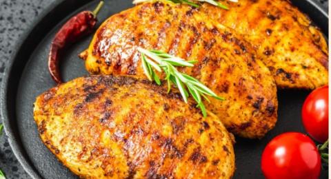 دجاج مشوي بصلصة الخردل والعسل للرجيم