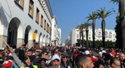 جماهير المغرب ترفض صفقة القرن وتهتف لفلسطين