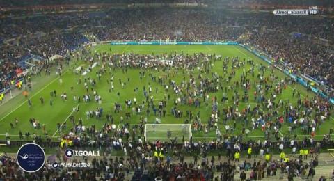 عنف وشغب في مباراة ليون وبشكتاش بالدوري الأوروبي
