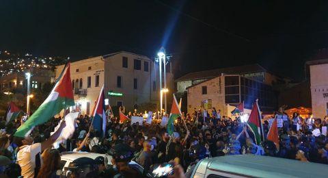 اطلاق سراح كافة المعتقلين من مظاهرة ليلة امس بحيفا