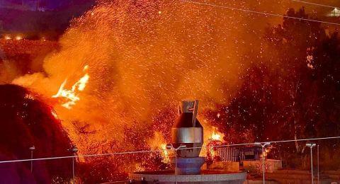 مباشر، ام الفحم: اعتقالات واصابات خلال مواجهات بين الشبان والشرطة بمدخل المدينة