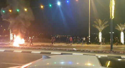 كفرقرع: أجواء متوترة بين الشرطة والمتظاهرين واعتقالات
