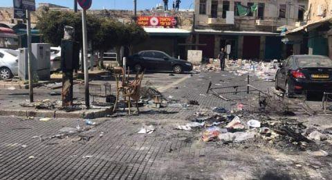 صور من عكا بعد ليلة مواجهات- تدمير المركز الجماهيري السرايا