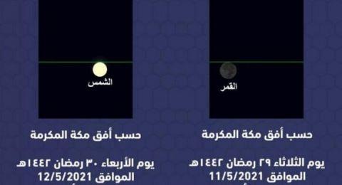 جمعية فلكية سعودية تكشف توقعاتها عن موعد أول أيام عيد الفطر