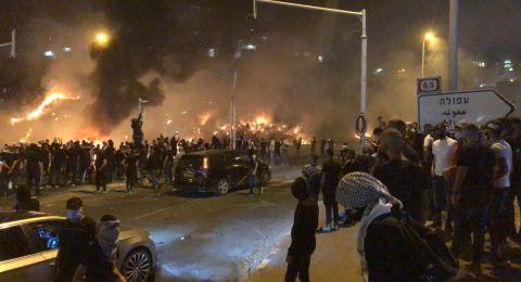 الاحتجاجات في الداخل تؤدي الى اضرار بملايين الشواكل بسبب المس  بالممتلكات العامة