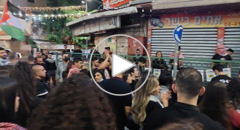 الناصرة: مظاهرة ومواجهات مع عناصر الشرطة في الحارة الشرقية