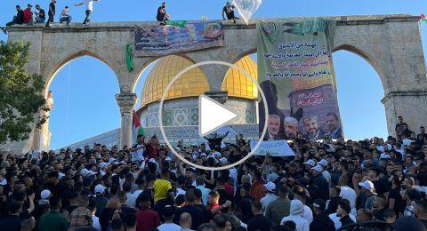 100 ألف مصل يؤدون صلاة عيد الفطر في المسجد الأقصى