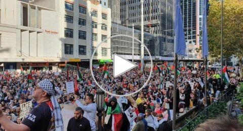 بالفيديو: من سيدني إلى شيكاغو..مظاهرات حاشدة تضامنا مع فلسطين