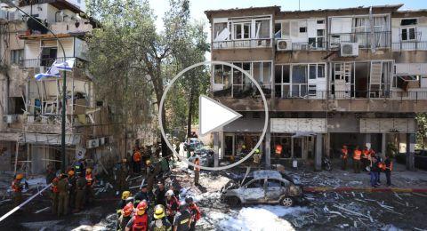 (فيديو) كتائب القسام توجه الآن ضربةً صاروخيةً: قتيل في رمات غان وقذيفة في الطيبة