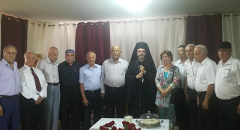 وفد لقاء الجليل يقدم التهاني لمطران أبرشية الروم الكاثوليك المنتخب يوسف متى