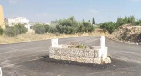 تحويل قبر إلى دوار في الأردن