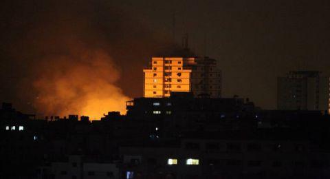 غارات اسرائيلية فجر اليوم تقصف موقعًا للمقاومة شرقي غزة