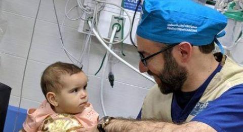 استخراج رصاصة من رأس رضيعة في مستشفى رفيديا بنابلس