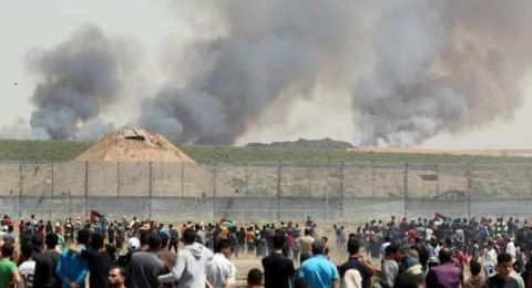 إصابات خلال المسيرات السلمية شرق قطاع غزة