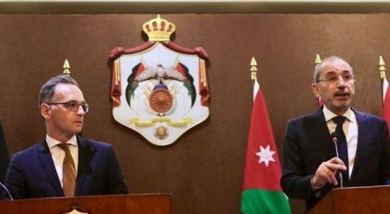 وزيرا خارجية الأردن وألمانيا يؤيدان حل الدولتين