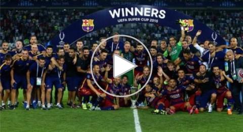 بيدرو يمنح برشلونة كأس سوبر أوروبا