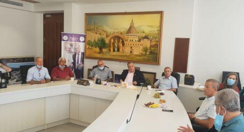مدير عام مؤسسة التأمين الوطني يزور بلدية الناصرة
