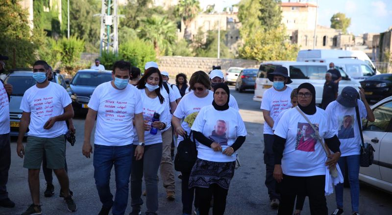 انطلاق مسيرة امهات من اجل الحياة من حيفا الى القدس مشيا على الاقدام