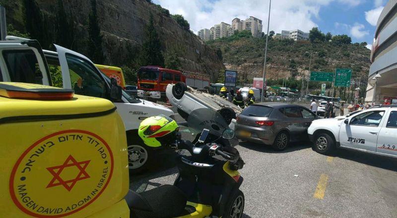 5 إصابات بحادث طرق في حيفا