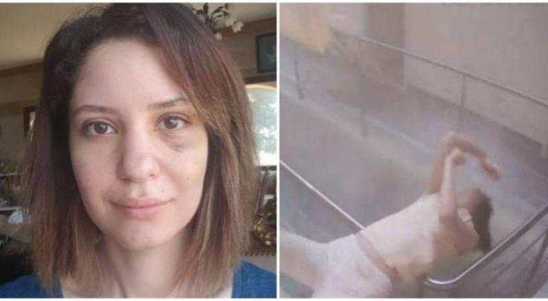 فتاة لبنانية تنجو من موت محقق لحظة وقوع انفجار بيروت المروع