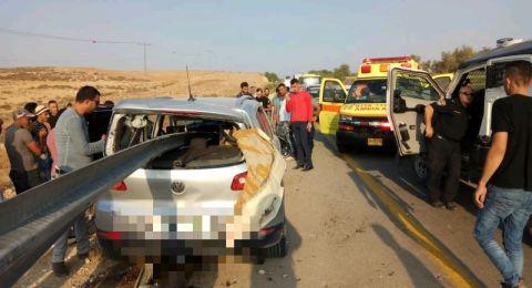 اصابة خطرة لسائق في حادث بالقرب من حاجز ميتار