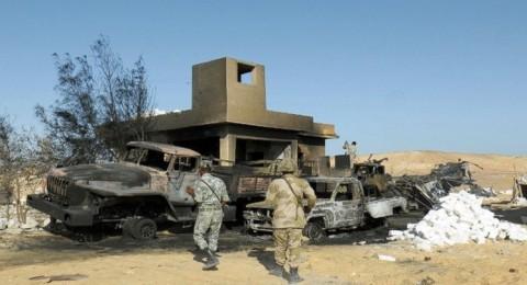 استشهاد 9 جنود مصريين اثر هجوم مسلح على نقطة عسكرية بسيناء