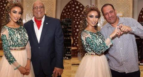 دنيا بطمة تتوج نفسها ملكة في قطر