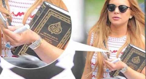 ليندسي لوهان ترتدي الحجاب، هل اعتنقت الإسلام؟