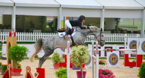 ليلى المالكي، اصغر مشاركة فلسطينية في بطولة المغرب لقفز الحواجز