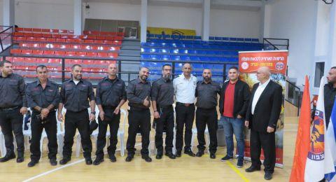 قائد سلطة الاطفاء والانقاذ يزور دبورية احتفالا بتأهيل وحدة متطوعين