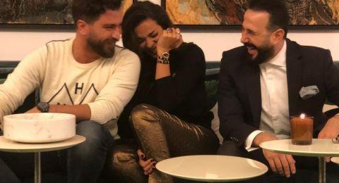 """نادين نسيب نجيم مع قصي خولي ومعتصم النهار: """"هيدا نحنا هيدا جونا"""""""
