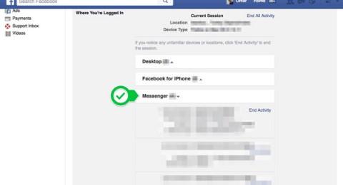 طريقة تسجيل الدخول من تطبيق Messenger على آيفون