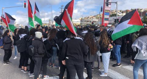 أم الفحم: انطلاق مظاهرة الغضب وإغلاق شارع 65ّ!