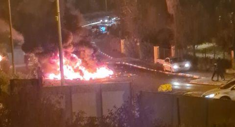 احتجاجات ومواجهات عنيفة في بسمة طبعون