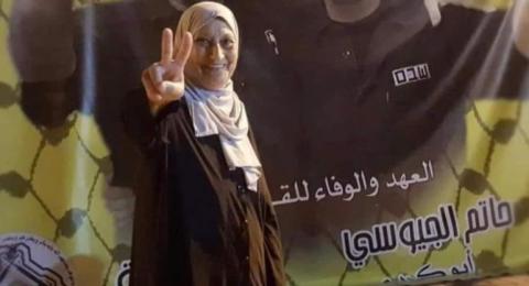 ناديا الزعبي والدة الأسير حاتم الجيوسي زيتونة من أرض البشارة...