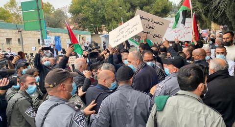 التجمّع يحيّي أبناء وبنات شعبنا الذي تصدّوا لزيارة نتنياهو بمظاهرة وهتافات