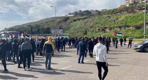 ردود فعل غاضبة على اعتداء الشرطة على متظاهري ام الفحم