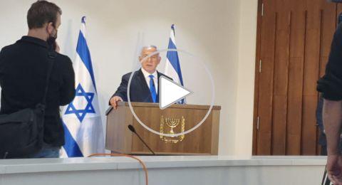 مؤتمر لنتنياهو وعلي سلام في بلدية الناصرة .. وسلام يهاجم المتظاهرين ولم يعلن الانضمام لليكود