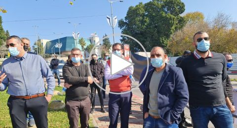 عائلة المرحوم جورج حلو تتظاهر امام بلدية نوف هجليل وتطالب بمحاسبة من قتلوه