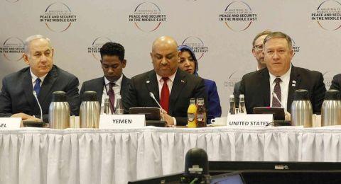 وزير الخارجية اليمني يعلق على جلوسه بجوار نتنياهو في وارسو