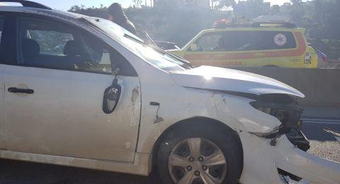 شارع 65: أربع اصابات في حادث طرق بعضها من ام الفحم